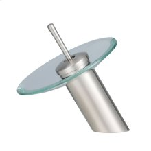 Yavin Single Handle Waterfall Lavatory Faucet - Brushed Nickel