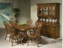 Classic Oak 42x96 Solid Oak Trestle Table