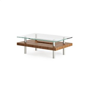 Bdi FurnitureSmall Rectangular Coffee Table 2302 in Natural Walnut