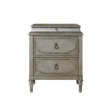 Cancale Bedside Chest - Regent Street Silver