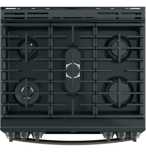 "GE Profile™ Series 30"" Slide-In Front Control Gas Range"