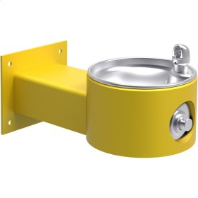 Elkay Outdoor Fountain Wall Mount Non-Filtered, Non-Refrigerated Freeze Resistant Yellow