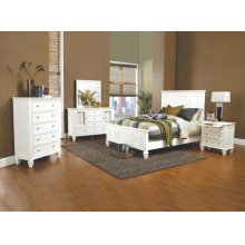 Sandy Beach White California King Four-piece Bedroom Set