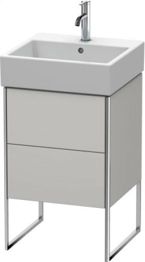 Vanity Unit Floorstanding, Nordic White Satin Matt Lacquer