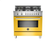 36 6-Burner, Electric Self-Clean Oven Yellow