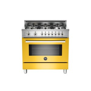 36 6-Burner, Electric Self-Clean Oven Yellow - YELLOW