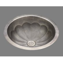 B0012 - Small Lavatory - Melon Pattern - Antique Brass