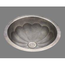 B0012 - Small Lavatory - Melon Pattern - Antique Brass