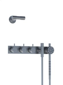 Two-handle build-in mixer with 1/4 turn ceramic disc technology and diverter - Polished chrome