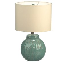 Sea Green Reactive Glaze Lamp 60W Max.