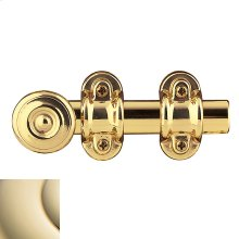 Lifetime Polished Brass Ornamental Heavy Duty Surface Bolt