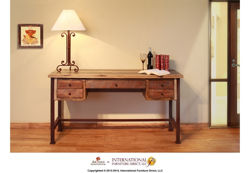 Attirant IFD967DESK In By Artisan Home Furniture In Chesterfield, MI   Writing Desk, Reclaimed  Wood Finish