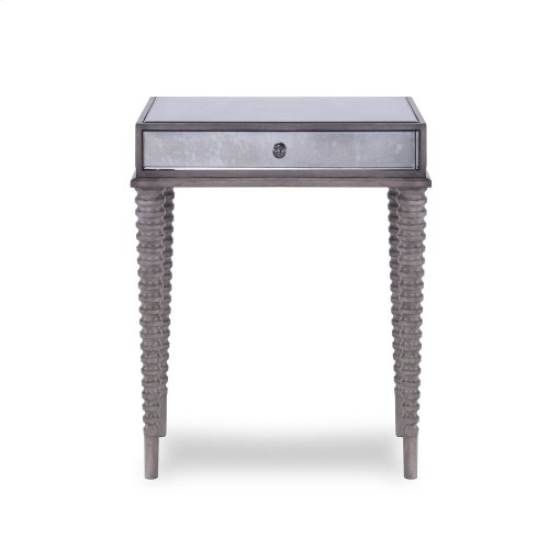 Axis Mirrored Accent Table - Grey