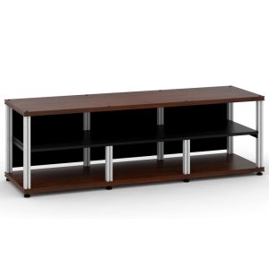 Salamander DesignsSynergy 20 Triple-Width Core Module with Center Opening, Walnut with Aluminum Posts