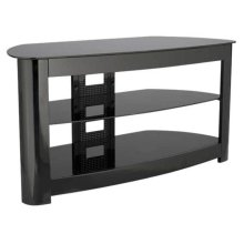 Audio Video Stand Black lacquered finish - fits AV components and TVs up to 56""