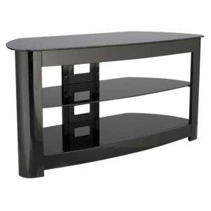 SanusAudio Video Stand Black lacquered finish - fits AV components and TVs up to 56""