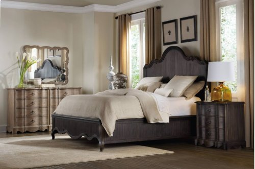 Corsica Dark King Panel Bed