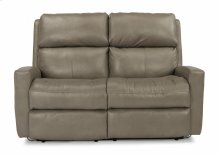 POWER LEATHER LOVESEAT WITH POWER HEADREST AND CONSOLE UPGRADE
