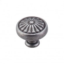Flower Knob 1 1/4 Inch - Pewter