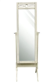 Cheval dressing mirror in antique white