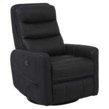 Hercules Black Power Swivel Glider Recliner with Articulating Headrest and built-in battery pack