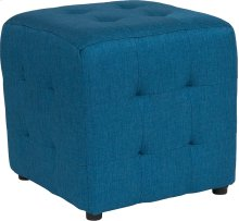 Avendale Tufted Upholstered Ottoman Pouf in Blue Fabric
