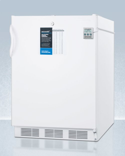 ADA Compliant Refrigerator-freezer for Built-in General Purpose Use, With Dual Evaporator Cooling, Nist Calibrated Thermometer, Internal Fan, and Front Lock