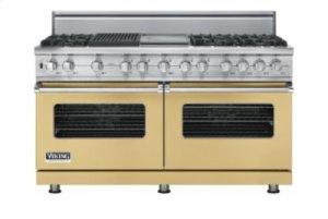 "60"" Custom Sealed Burner Dual Fuel Range, Natural Gas, No Brass Accent"