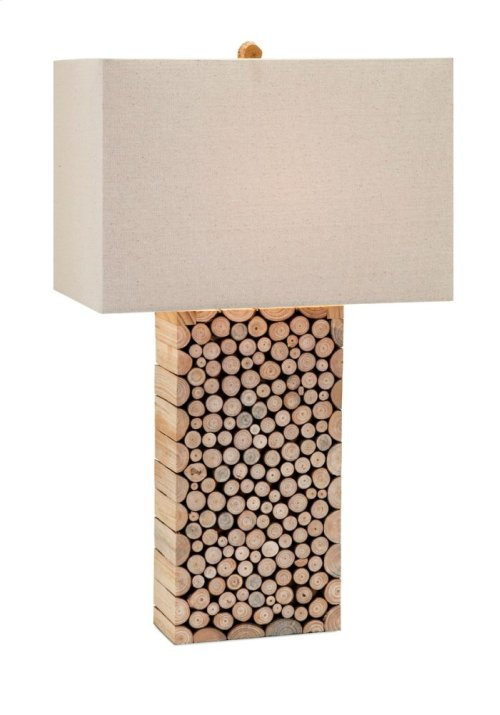 Cynder Wood Table Lamp