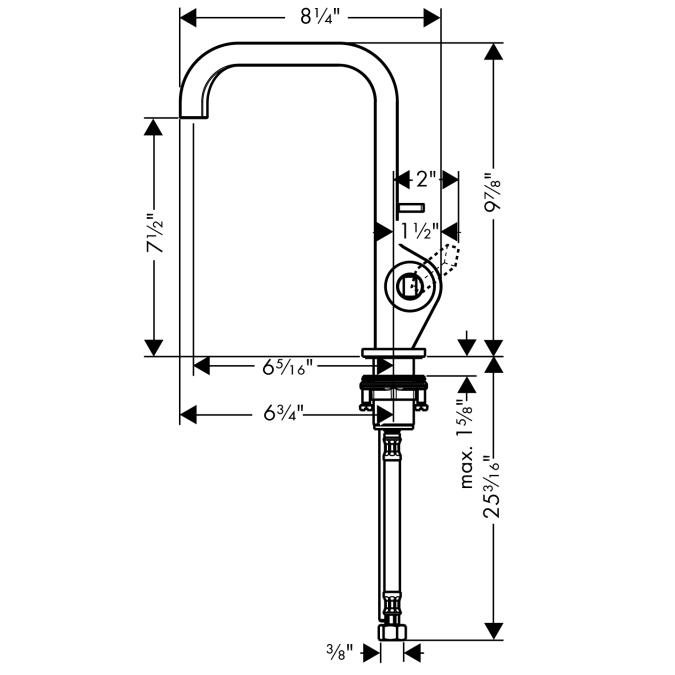 Additional Chrome Single-Hole Faucet, Tall