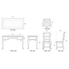 Ladies Writing Desk & Chair - Set