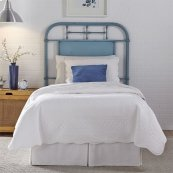 Twin Metal Headboard - Blue
