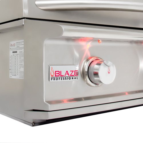 Blaze Professional 34-Inch 3 Burner Built-In Gas Grill With Rear Infrared Burner, With Fuel Type - Natural Gas