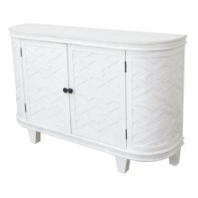 Hawthorne Estate White Curved Fretwork Credenza