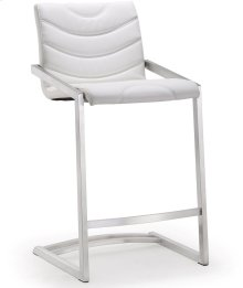 Rio White Steel Counter Stool