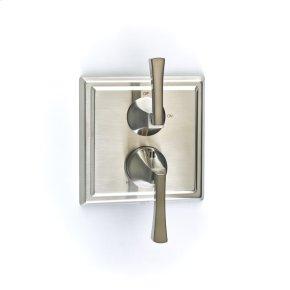Dual Control Thermostatic with Volume Control Valve Trim Hudson (series 14) Satin Nickel