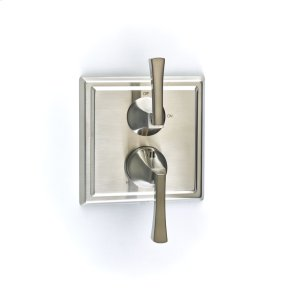 Dual Control Thermostatic with Volume Control Valve Trim Leyden (series 14) Satin Nickel