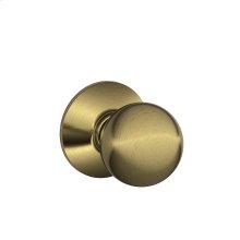 Orbit Knob Hall & Closet Lock - Antique Brass