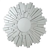 Transitional Sunburst Frameless Mirror Product Image