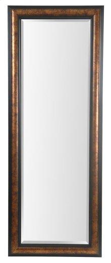 25X65 Metallic Gold with Black Framed Mirror