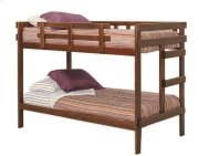 Heartland 2 x 4 Bunk Bed with options: Chocolate, Twin over Twin Product Image