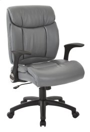 Faux Leather Managers Chair With Flip Arms Product Image