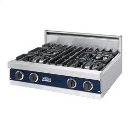 """Viking Blue 30"""" Sealed Burner Rangetop - VGRT (30"""" Wide, four burner)"""