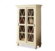 Coventry Sliding Door Bookcase Weathered Driftwood/Dover White finish Product Image