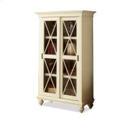 Coventry Sliding Door Bookcase Weathered Driftwood/Dover White finish Product Image