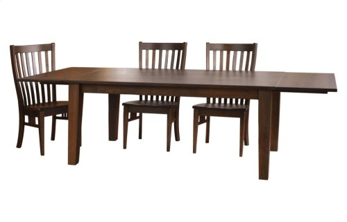 """42/96 Solid 5/4 Thick Top Large Tapered Leg Table w/2-18"""" Leaf Kits"""