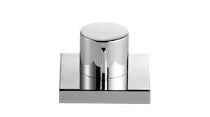 Strainer remote control with turning knob - chrome