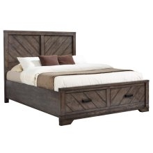 Lawndale Rustic Weathered Grey Queen Bed