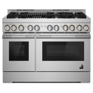"""48"""" RISE Gas Professional-Style Range with Infrared Grill"""