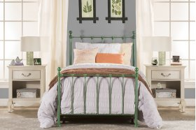 Molly Twin Duo Panel Green - Must Order 2 Panels for Complete Bed Set